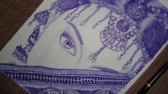 手绘 印度美女