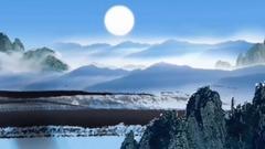 月亮望成小竹篮