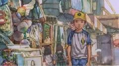 韩国水彩动画